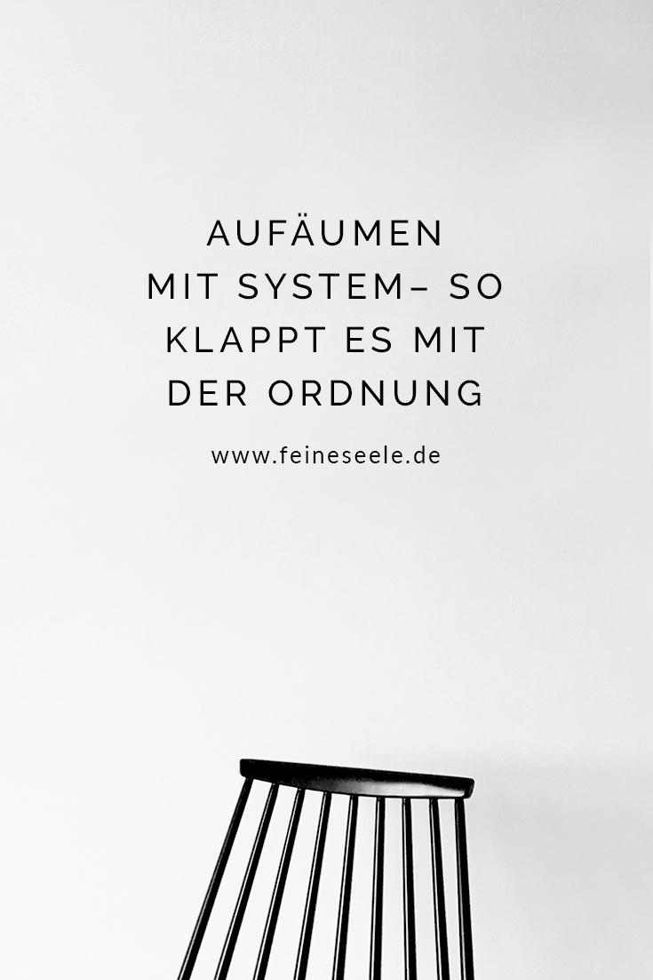 Aufräumen mit System – Stuhllehne